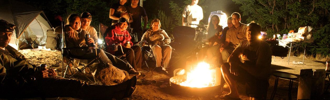 luxury camping family together